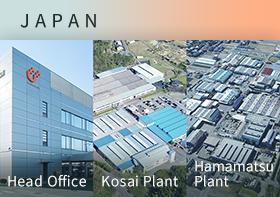 Main Plant/Hamamatsu Plant/Kosai Plant(Japan)